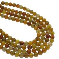 Natürliche Drachen Venen Achat Perlen, Drachenvenen Achat, rund, 8mm, Bohrung:ca. 1mm, ca. 48PCs/Strang, verkauft per ca. 14.5 ZollInch Strang