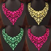Kristall Halskette, Zinklegierung, mit Kristall, Spritzlackierung, facettierte & mit Strass, keine, frei von Blei & Kadmium, 420mm, verkauft per ca. 16.54 ZollInch Strang