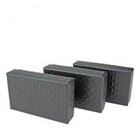 Papier Halskettenkasten, mit Schwamm, schwarz, 50x83x25mm, 100PCs/Menge, verkauft von Menge
