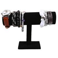 Baumwollsamt Armbandständer, Holz, mit Baumwollsamt, keine, 100x70mm, 236x140mm, 50mm, verkauft von PC