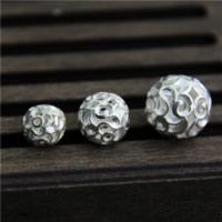 925 Sterling Silber Perlen, rund, verschiedene Größen vorhanden & hohl, verkauft von Menge