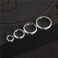Sterling Silber Armband Befunde, 925 Sterling Silber, Kreisring, verschiedene Größen vorhanden, Bohrung:ca. 1mm, verkauft von Menge