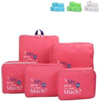 Reisetaschen, Polyester, mit Brief Muster, keine, 26x20x8cm-38x28x15cm, 5PCs/setzen, verkauft von setzen