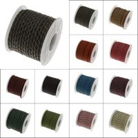 Split-Layer-Rindsleder Schnur, mit Kunststoffspule, keine, 3mm, 10HofHof/Spule, verkauft von Spule