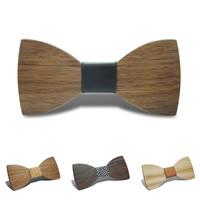 Unisex-Fliege, Holz, mit Baumwollgewebe & PU Leder, verschiedene Muster für Wahl, 120x55mm, verkauft von PC