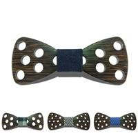 Unisex-Fliege, Holz, mit Baumwollgewebe, verschiedene Muster für Wahl, 120x50mm, verkauft von PC