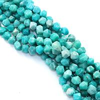 Amazonit Perle, natürlich, verschiedene Größen vorhanden & facettierte, Bohrung:ca. 0.5-1mm, verkauft per ca. 16 ZollInch Strang