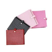 Schmuck Display Buch, PU Leder, mit Zinklegierung, Rechteck, Platinfarbe platiniert, verschiedene Muster für Wahl, 210x170x50mm, verkauft von PC