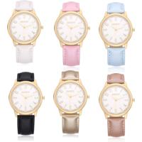 GAIETY® Unisex Schmuck Uhren, PU Leder, mit Glas & Zinklegierung, plattiert, einstellbar, keine, 42mm, Länge:ca. 9.4 ZollInch, verkauft von PC