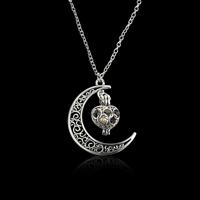 Plastik-Perlenkette, Zinklegierung, mit ABS-Kunststoff-Perlen & Eisenkette, mit Verlängerungskettchen von 5cm, Platinfarbe platiniert, Oval-Kette & für Frau, frei von Blei & Kadmium, 36x20x30mm, verkauft per ca. 16.5 ZollInch Strang