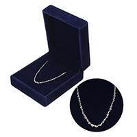 925 Sterling Silber Halskette Kette, Mit Verpackungskasten & unterschiedliche Länge der Wahl & Oval-Kette, 2x1.50x0.20mm, verkauft von Strang