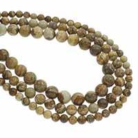 Bild Jaspis Perlen, rund, verschiedene Größen vorhanden, Bohrung:ca. 1mm, verkauft per ca. 15.5 ZollInch Strang