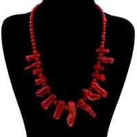 Koralle Halskette, Natürliche Koralle, für Frau, 7-14mm, verkauft per ca. 20 ZollInch Strang