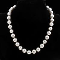Südsee Muschel Halskette, rund, verschiedene Größen vorhanden & für Frau, verkauft per ca. 18 ZollInch Strang