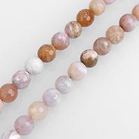 Australian Agate Perle, rund, natürlich, gefärbt & verschiedene Größen vorhanden & facettierte, Bohrung:ca. 0.5-2mm, verkauft per ca. 15 ZollInch Strang