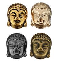 Buddhistische Perlen, Zinklegierung, Buddha, plattiert, keine, frei von Nickel, Blei & Kadmium, 9x11x8mm, Bohrung:ca. 1.5mm, 500PCs/Menge, verkauft von Menge