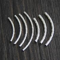 925 Sterling Silber gebogene Rohr Perlen, Blume Schnitt & verschiedene Größen vorhanden, verkauft von Menge