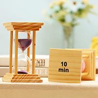 Hourglass Timer, Holz, mit Glas, Sanduhr, mit Glas & Sanduhr & verschiedene Stile für Wahl, 60x110mm, verkauft von PC