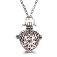 Messing Schwangere Harmonie-Kugel-Strickjacke-Halskette, Herz, plattiert, Rolo Kette & für Frau & hohl, keine, frei von Blei & Kadmium, 800mm, verkauft per ca. 31 ZollInch Strang