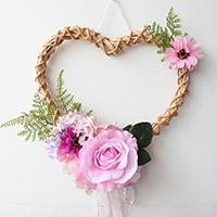 Kunstseide mit Bambus & Spitze & Kunststoff Perlen, Herz, Hochzeitsgeschenk, 300x30mm, verkauft von PC