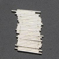 925 Sterling Silber Ohrring Stecker, silberfarben plattiert, mit 925 logo, 11x0.75mm, 10PCs/Tasche, verkauft von Tasche