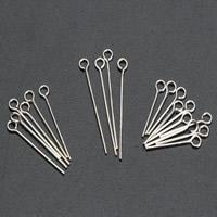 925 Sterling Silber Kettelstifte, silberfarben plattiert, verschiedene Größen vorhanden, 10PCs/Tasche, verkauft von Tasche