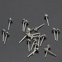 925 Sterling Silber Ohrring Stecker, silberfarben plattiert, verschiedene Größen vorhanden, 10PaarePärchen/Tasche, verkauft von Tasche