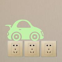 Lichtschalter Aufkleber, PVC Kunststoff, Auto, Klebstoff & glänzend, 185x100mm, verkauft von PC
