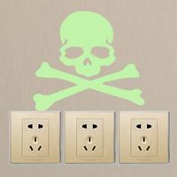 Lichtschalter Aufkleber, PVC Kunststoff, Schädel, Klebstoff & glänzend, 150x135mm, verkauft von PC