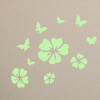 Dekorative Sticker Mode, PVC Kunststoff, Blume, Klebstoff & glänzend, 560x480mm, verkauft von PC