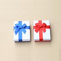 Karton Schmuckset Kasten, Papier, Fingerring & Ohrring & Halskette, mit Schwamm, Rechteck, gemischte Farben, 70x90x30mm, 30PCs/Menge, verkauft von Menge