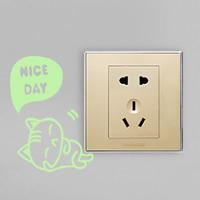 Lichtschalter Aufkleber, PVC Kunststoff, Katze, Klebstoff & mit Brief Muster & glänzend, 95x110mm, verkauft von PC