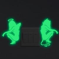 Lichtschalter Aufkleber, PVC Kunststoff, Fee, Klebstoff & glänzend, 200x100mm, verkauft von PC