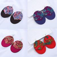 Holz Ohrring, mit Zinklegierung, Eisen Haken, gefärbt & für Frau, keine, 80x58mm, verkauft von Paar