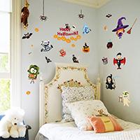 Wand-Sticker, PVC Kunststoff, Klebstoff & Halloween Schmuck & mit Brief Muster & wasserdicht, 600x900mm, verkauft von setzen