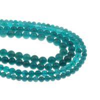Amazonit Perlen, rund, verschiedene Größen vorhanden, Bohrung:ca. 1mm, verkauft per ca. 15.5 ZollInch Strang