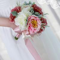 Seidenspinnerei Hand Blumenstrauß, Hochzeitsgeschenk, 210x250mm, verkauft von PC