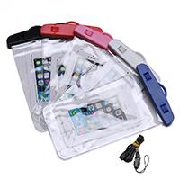 PVC Kunststoff Wasserdichte Handytasche, mit Nylonschnur, Für Mobiltelefon unter 6 Zoll, keine, 120x210x0.50mm, Länge:ca. 38 ZollInch, verkauft von PC