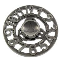 Finger Hand Spinner Gyroskop, Aluminium, metallschwarz plattiert, mit einem Muster von Nummer, frei von Nickel, Blei & Kadmium, 61x13.5mm, verkauft von PC