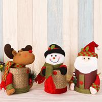 Leinen- Baumwolle mit Zettelkasten & Plüsch & Kunststoff, Weihnachtsschmuck & verschiedene Stile für Wahl, 200x90mm, verkauft von PC
