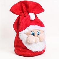 Weihnachtsgeschenkbeutel, Baumwollsamt, Weihnachtsmann, Weihnachtsschmuck, 500x370mm, verkauft von PC