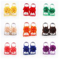 Baby Barefoot Sandalen, Satinband, Blume, elastisch & für Kinder, keine, 50mm, verkauft von Paar