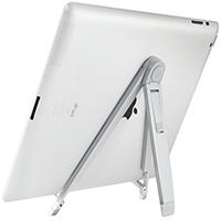 Zinklegierung Tablet PC-Halter, silberfarben plattiert, 180x25x10mm, verkauft von PC