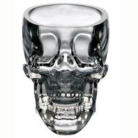 Glas Schädel, 60x50x60mm, 3PCs/Menge, verkauft von Menge