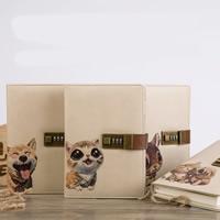 Notizbuch, PU Leder, mit Papier, Rechteck, verschiedene Muster für Wahl, 140x200x30mm, verkauft von PC