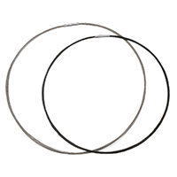 Kragen Halskette, Edelstahl, Kreisring, plattiert, unterschiedliche Länge der Wahl, keine, 2mm, 18x3mm, verkauft von PC