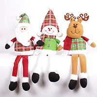 Stoff mit Plüsch & Kunststoff, Weihnachtsschmuck & verschiedene Stile für Wahl, 280x180mm, 480mm, verkauft von PC