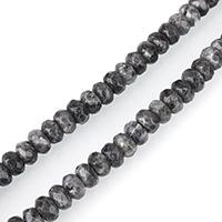 Labradorit Perlen, Rondell, facettierte, 5x8mm, Bohrung:ca. 1mm, ca. 77PCs/Strang, verkauft per ca. 15 ZollInch Strang