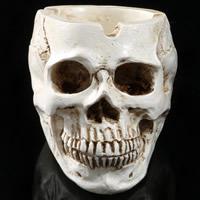 Halloween Dekoration, Harz, Schädel, Halloween Schmuck, 95x90x55mm, verkauft von PC