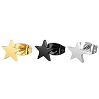 Edelstahl Ohrringe, 316 Edelstahl, Stern, plattiert, poliert & unisex, keine, 7mm, verkauft von Paar